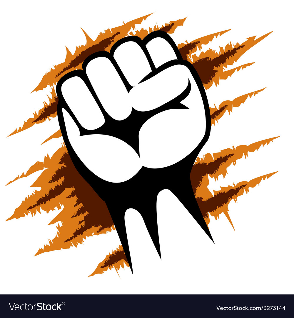 Raised fist poster template graphic design vector | Price: 1 Credit (USD $1)