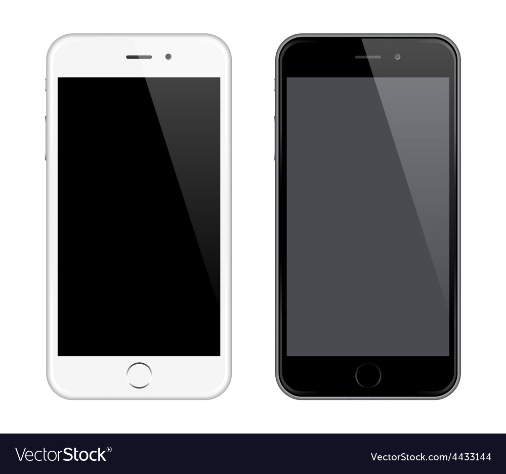 Realistic mobile phone mockup like iphone vector | Price: 1 Credit (USD $1)