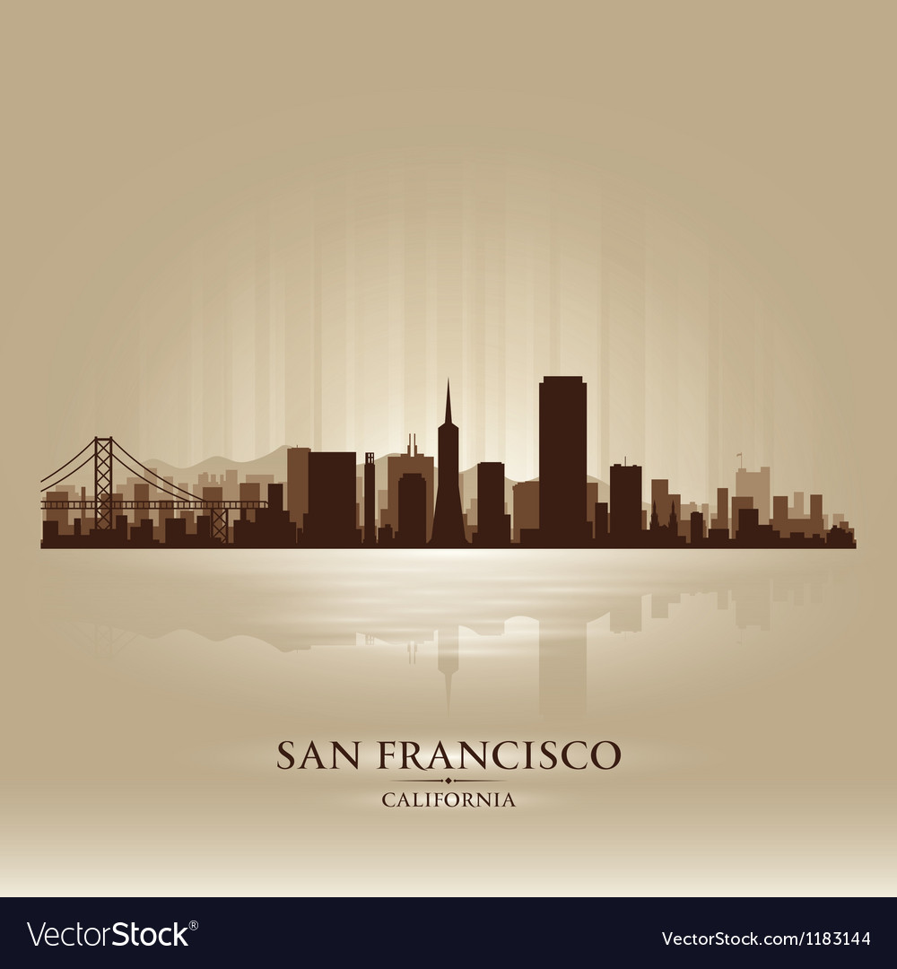 San francisco california skyline city silhouette vector | Price: 1 Credit (USD $1)