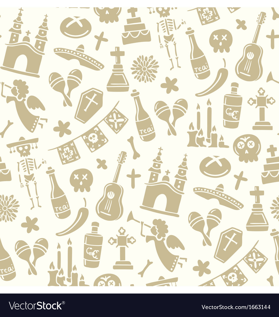 Seamless pattern for day of the dead vector | Price: 1 Credit (USD $1)