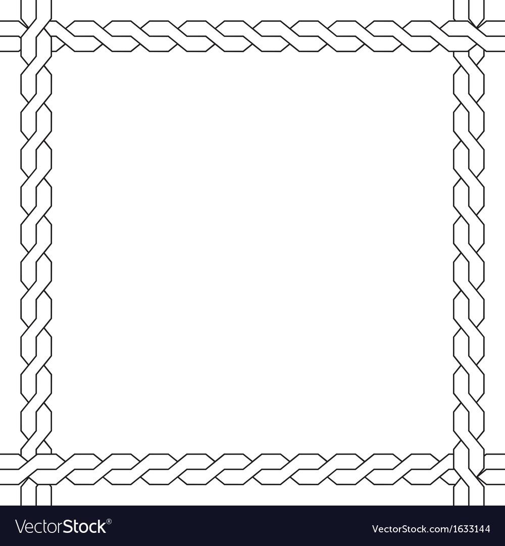 Simple wicker frame monochrome pattern vector | Price: 1 Credit (USD $1)