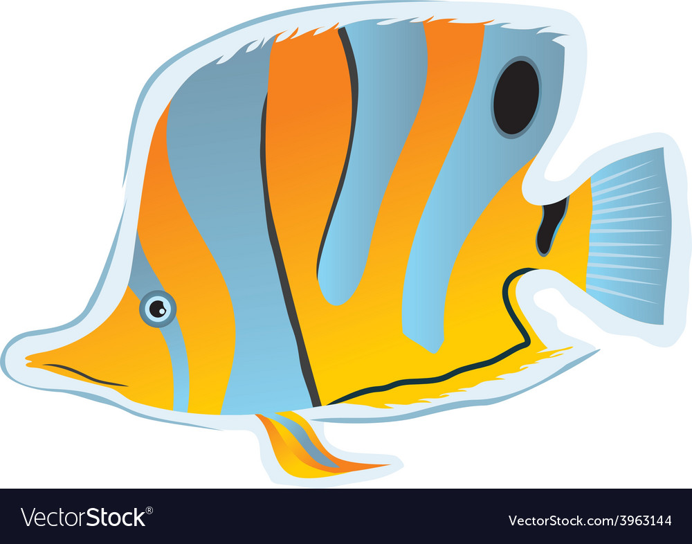Sticker tropical fish vector | Price: 1 Credit (USD $1)
