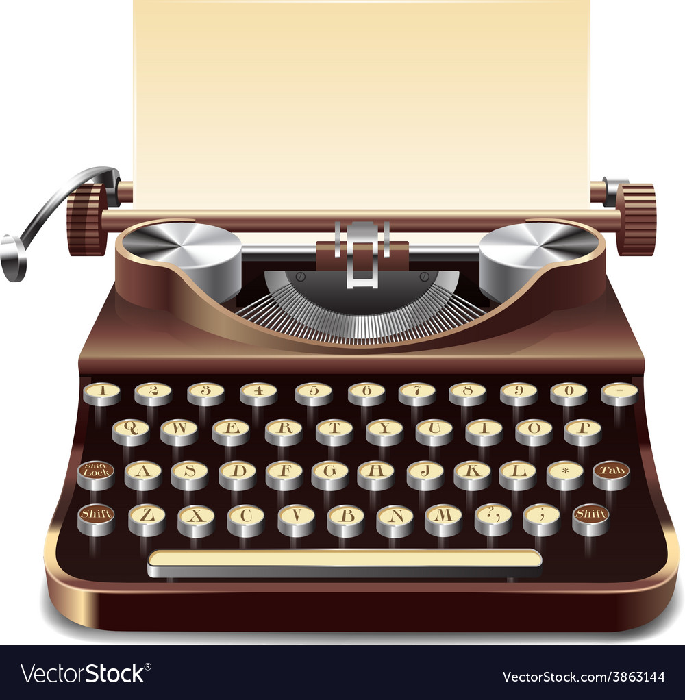 Typewriter realistic vector | Price: 1 Credit (USD $1)