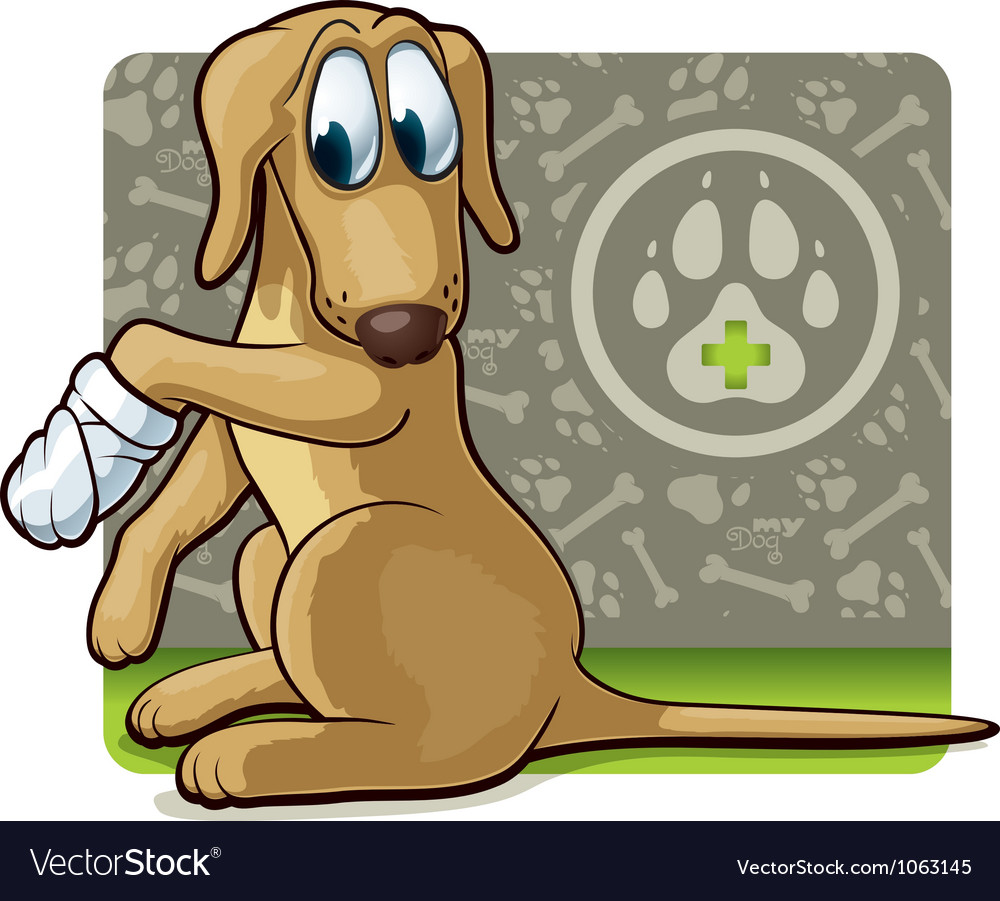Dog at the doctor vector | Price: 3 Credit (USD $3)