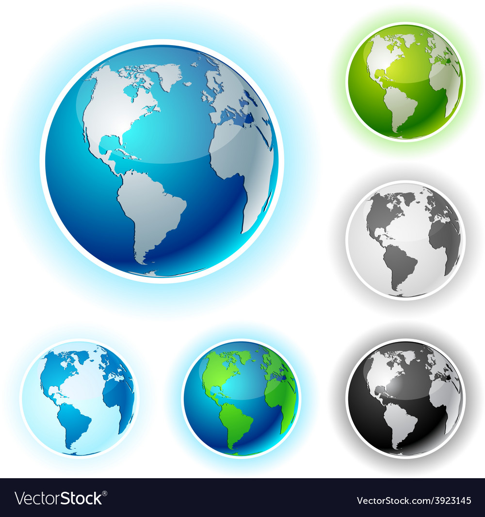 Earth balls - america vector | Price: 1 Credit (USD $1)