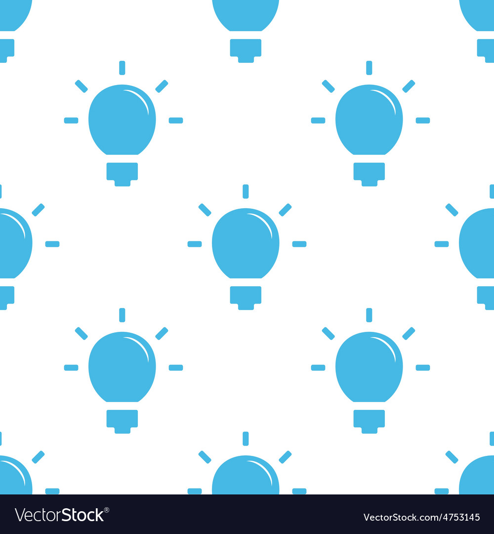 Flat bulb pattern vector | Price: 1 Credit (USD $1)