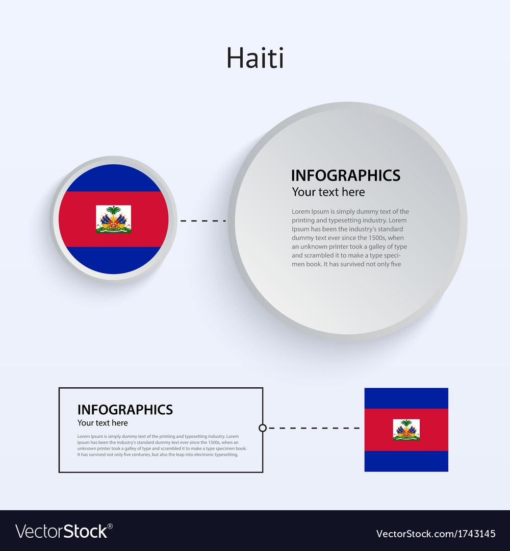 Haiti country set of banners vector | Price: 1 Credit (USD $1)