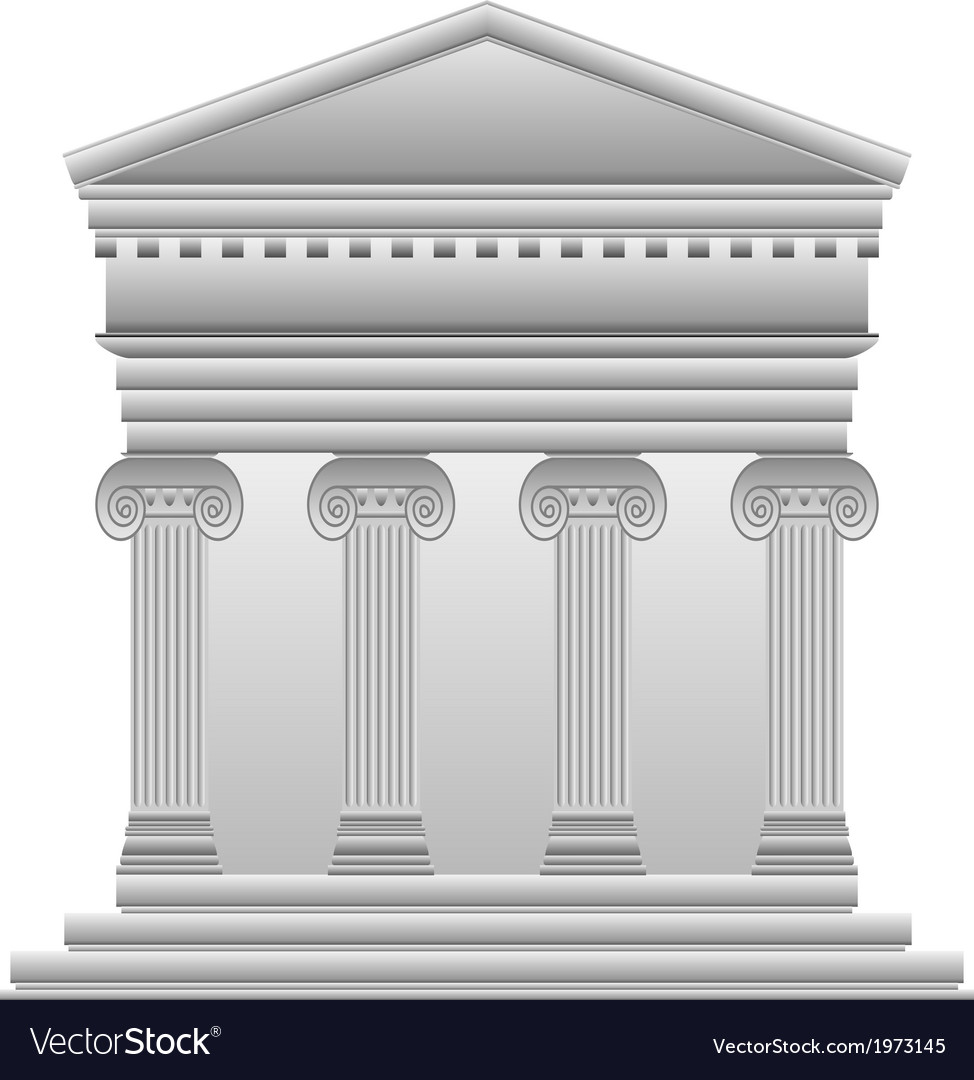 Ionic greek temple vector | Price: 1 Credit (USD $1)