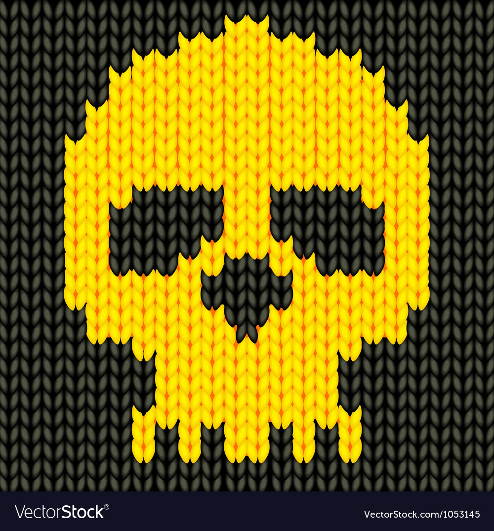 Knitted skull vector | Price: 1 Credit (USD $1)