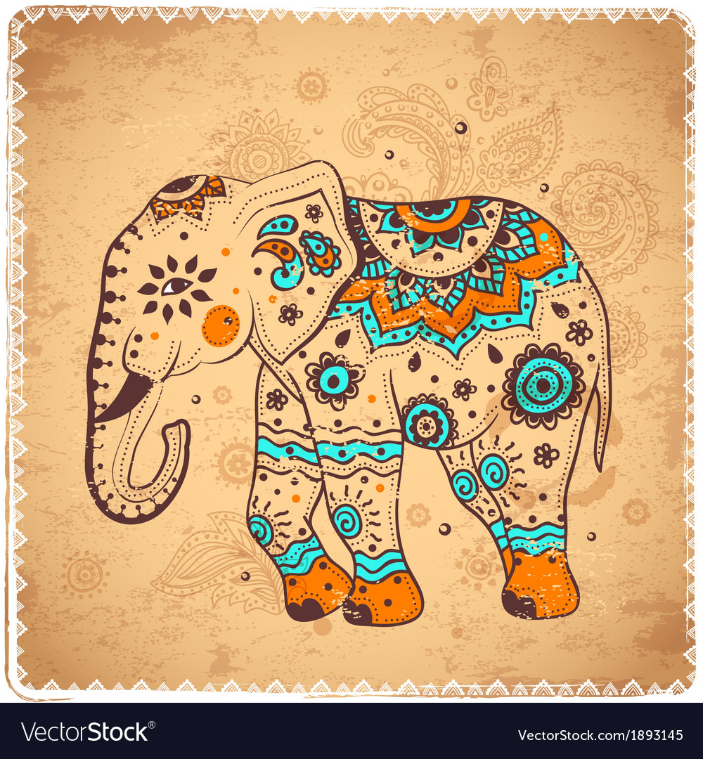 Vintage elephant vector | Price: 1 Credit (USD $1)