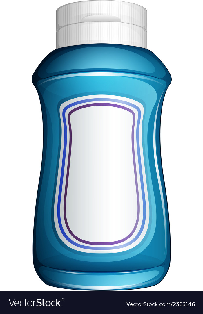 A blue generic bottle vector | Price: 1 Credit (USD $1)