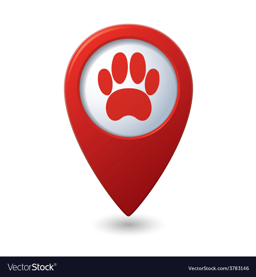 Animal footstep red pointer vector   Price: 1 Credit (USD $1)