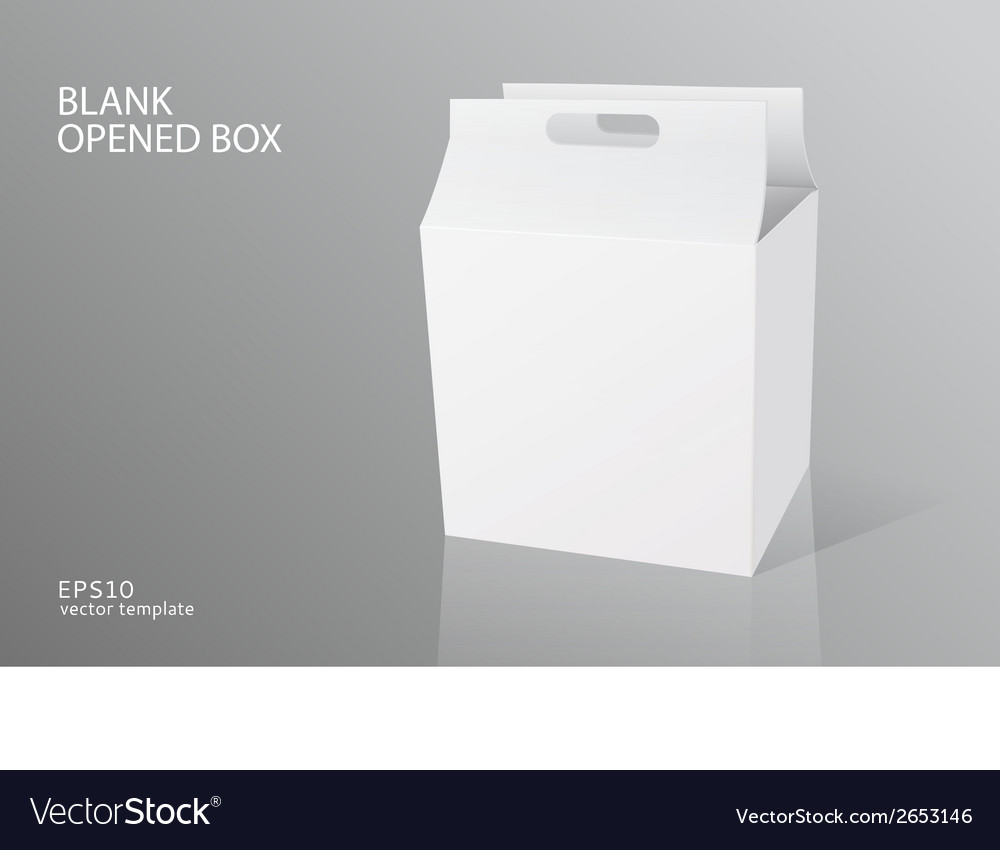 Blank packing opened box vector | Price: 1 Credit (USD $1)