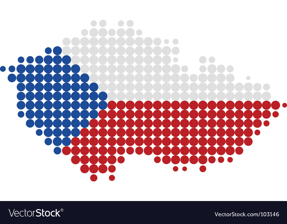 Czech republic map and flag vector   Price: 1 Credit (USD $1)