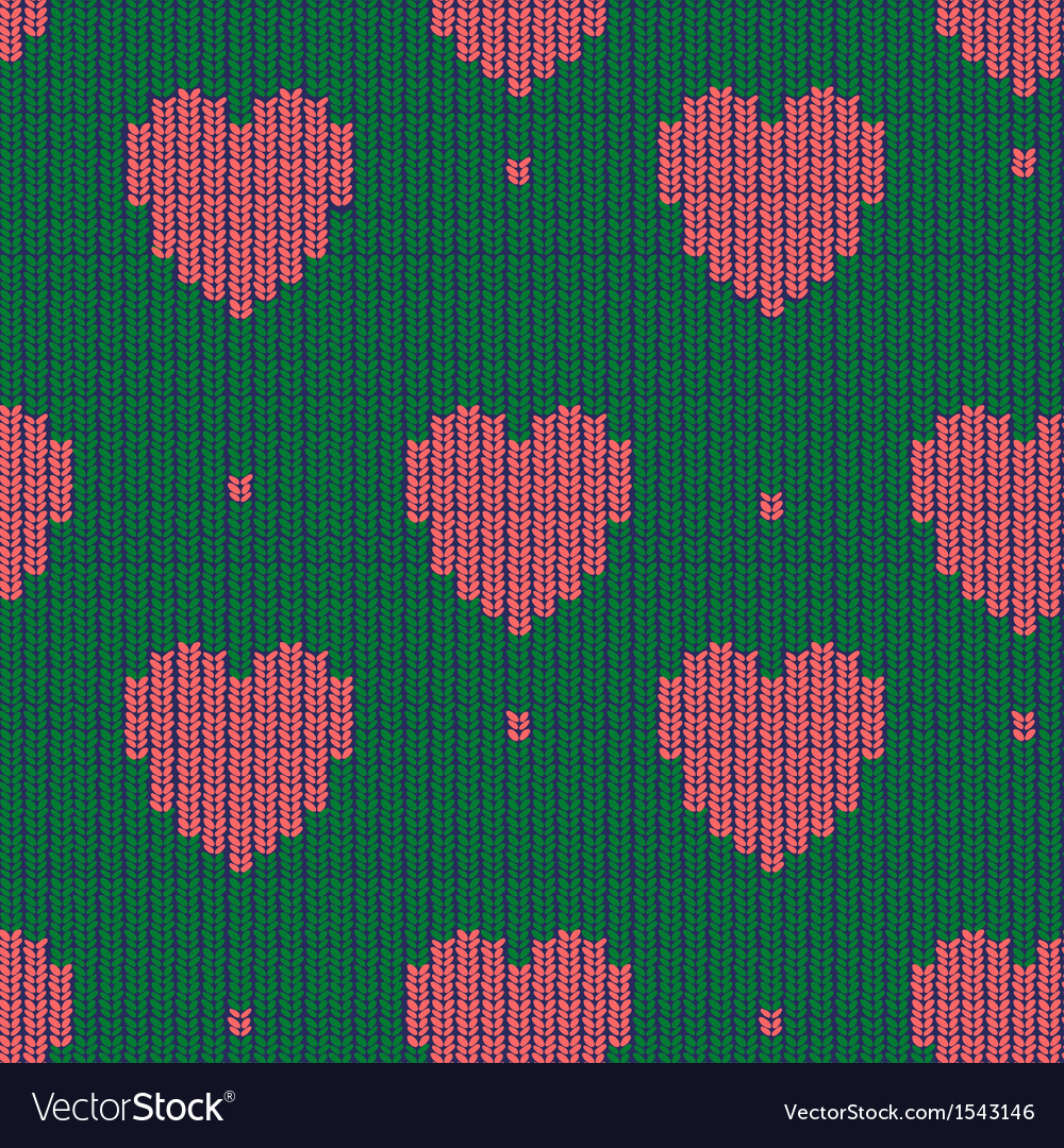 Seamless knitted background vector   Price: 1 Credit (USD $1)