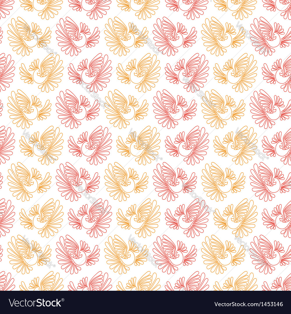 Seamless pattern with firebird vector | Price: 1 Credit (USD $1)