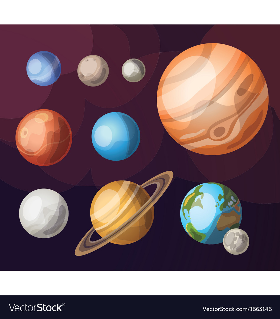 Set of planets of solar system vector | Price: 1 Credit (USD $1)