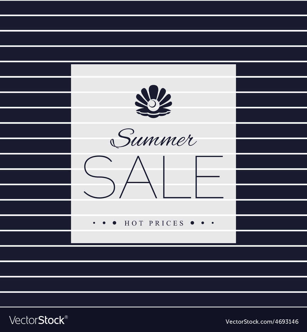 Summer sale poster on striped background vector | Price: 1 Credit (USD $1)