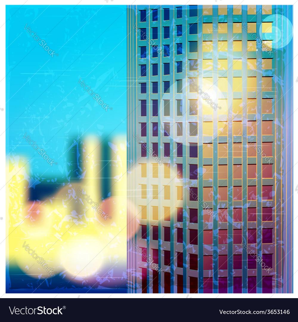 Sunlit skyscraper vector | Price: 1 Credit (USD $1)