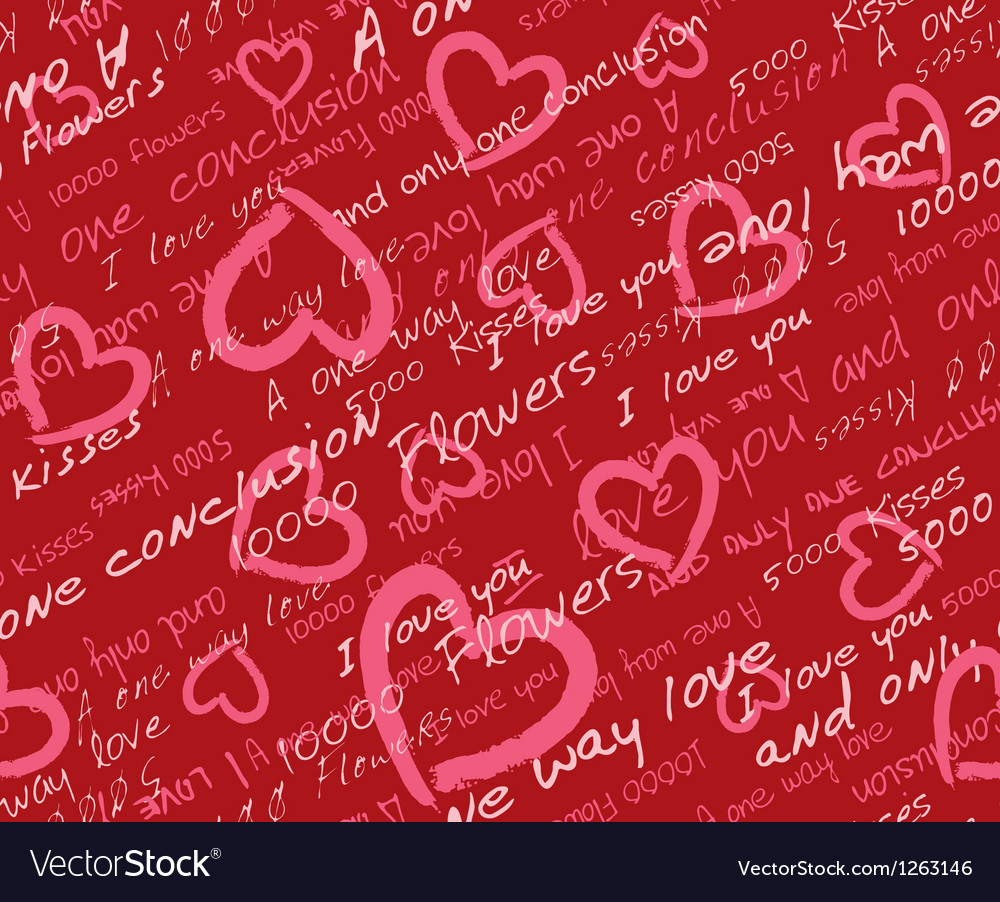 Valentine day seamless pattern vector | Price: 1 Credit (USD $1)