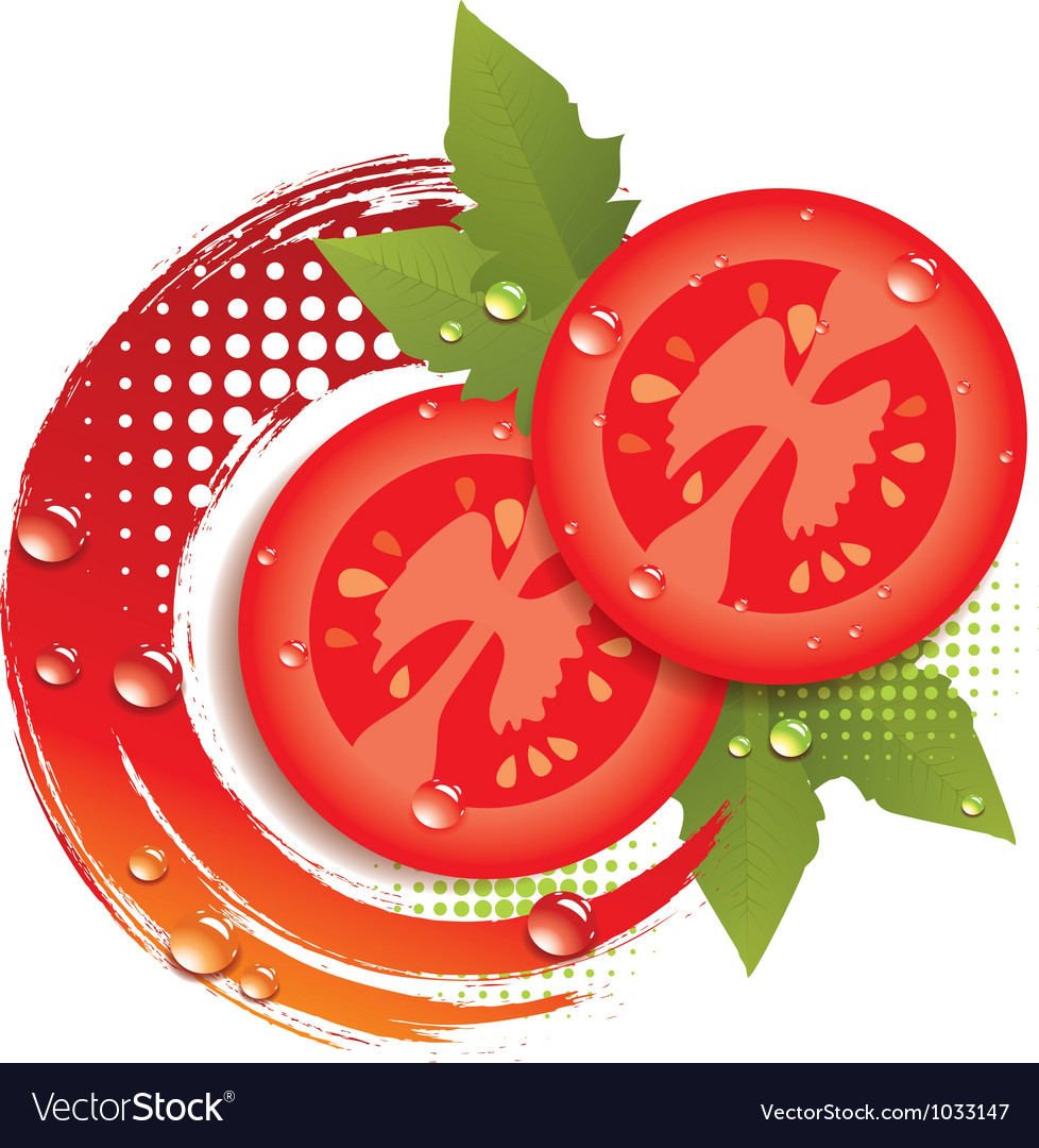 Abstract background with fresh tomatoes vector | Price: 1 Credit (USD $1)