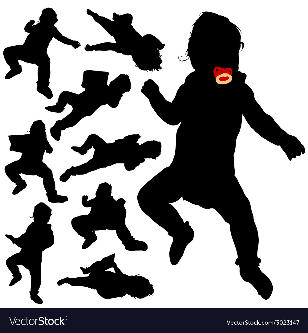 Baby black silhouette vector | Price: 1 Credit (USD $1)