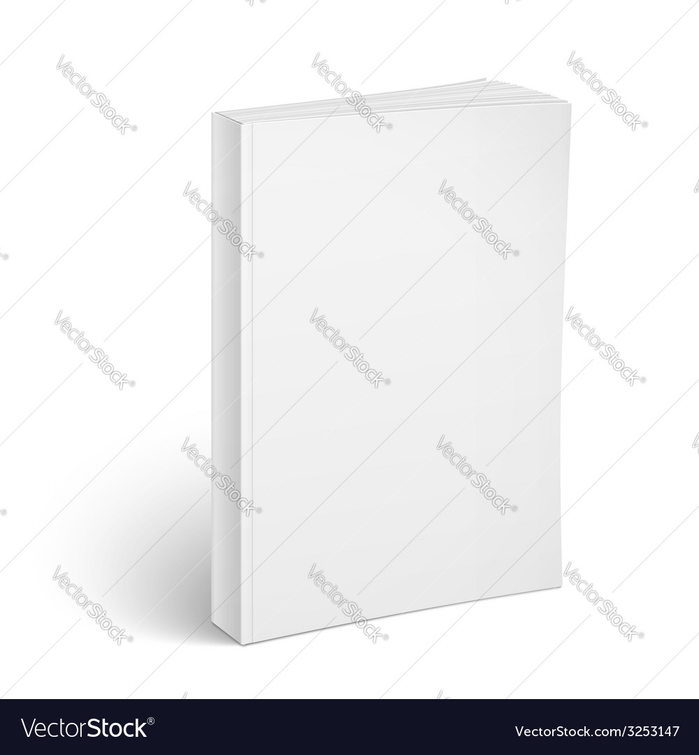 Blank vertical softcover book template vector | Price: 1 Credit (USD $1)
