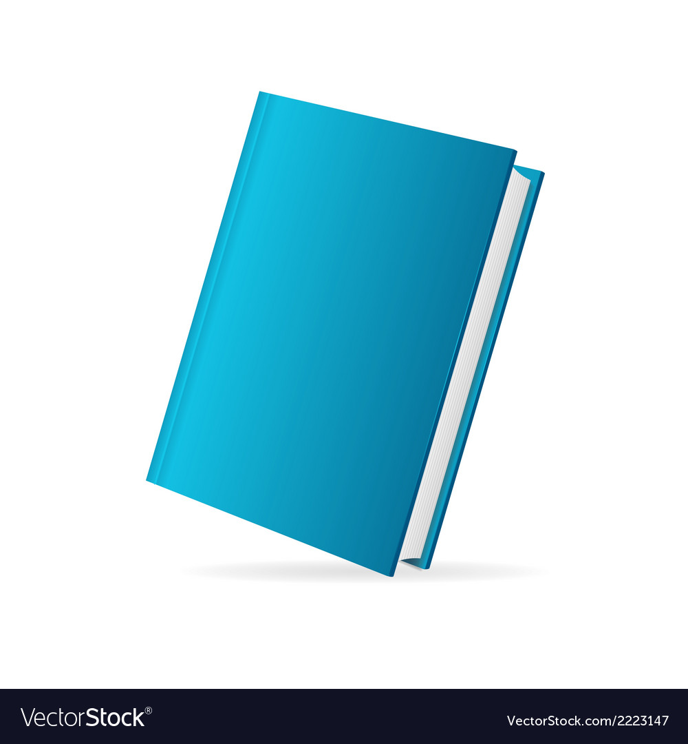 Book cover blue perspective vector | Price: 1 Credit (USD $1)