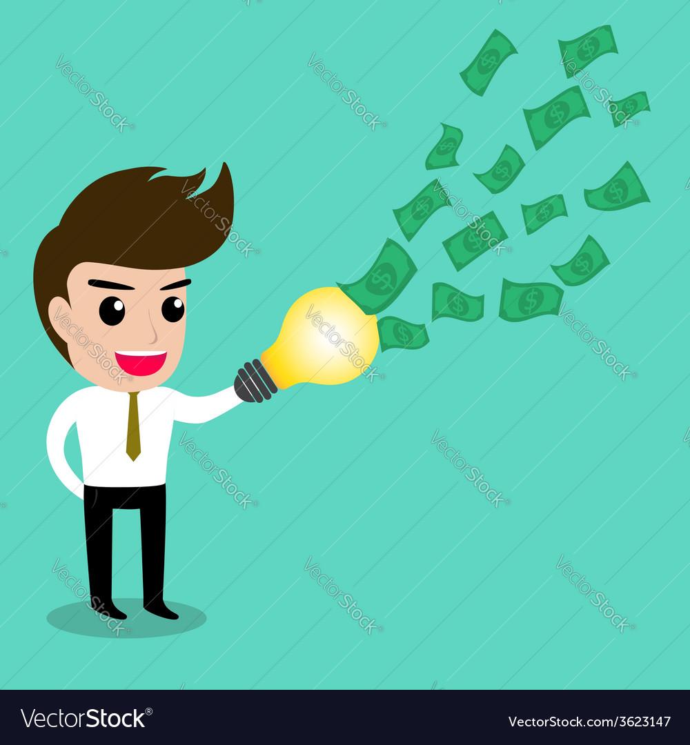 Business man idea money2 vector | Price: 1 Credit (USD $1)