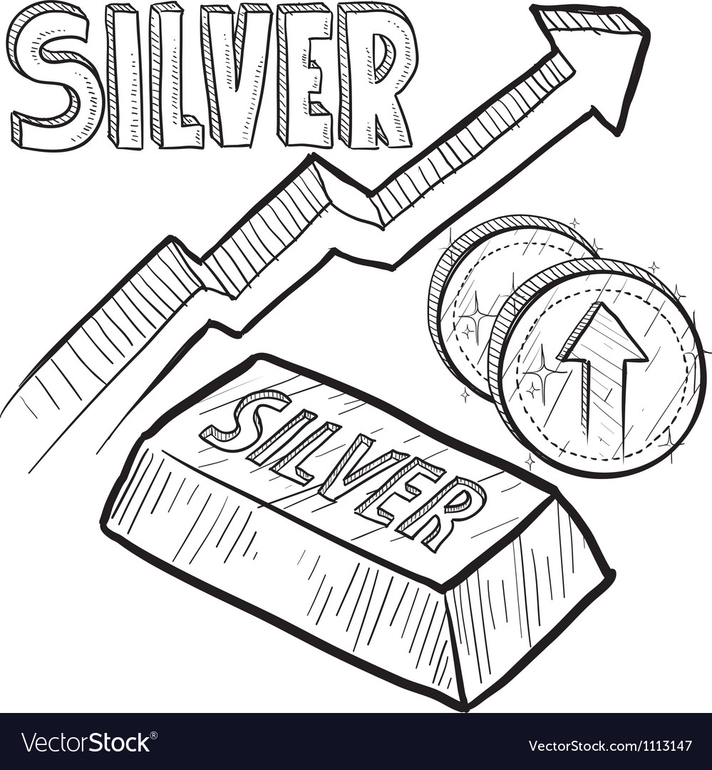 Doodle currency silver increase vector | Price: 1 Credit (USD $1)