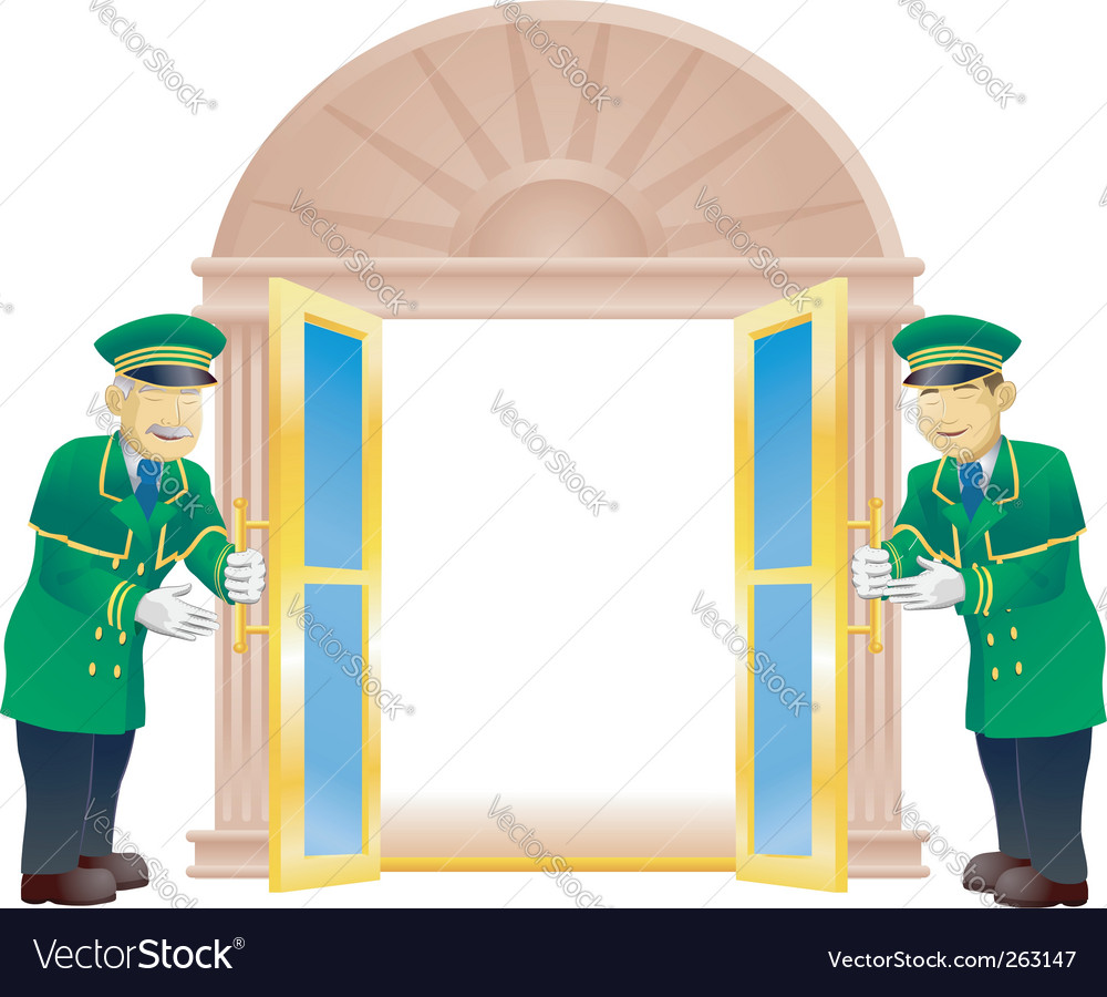 Doormen vector | Price: 3 Credit (USD $3)