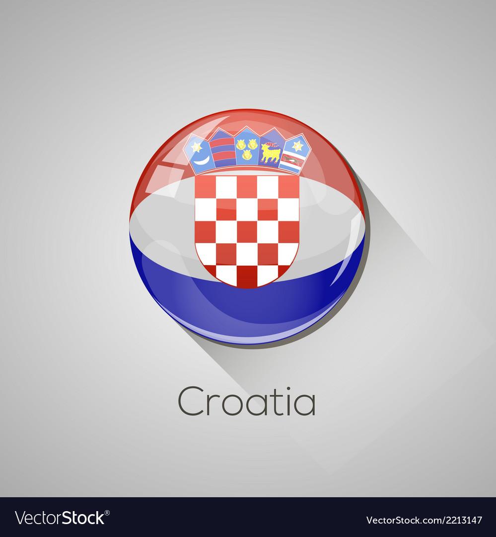 European flags set - croatia vector | Price: 1 Credit (USD $1)