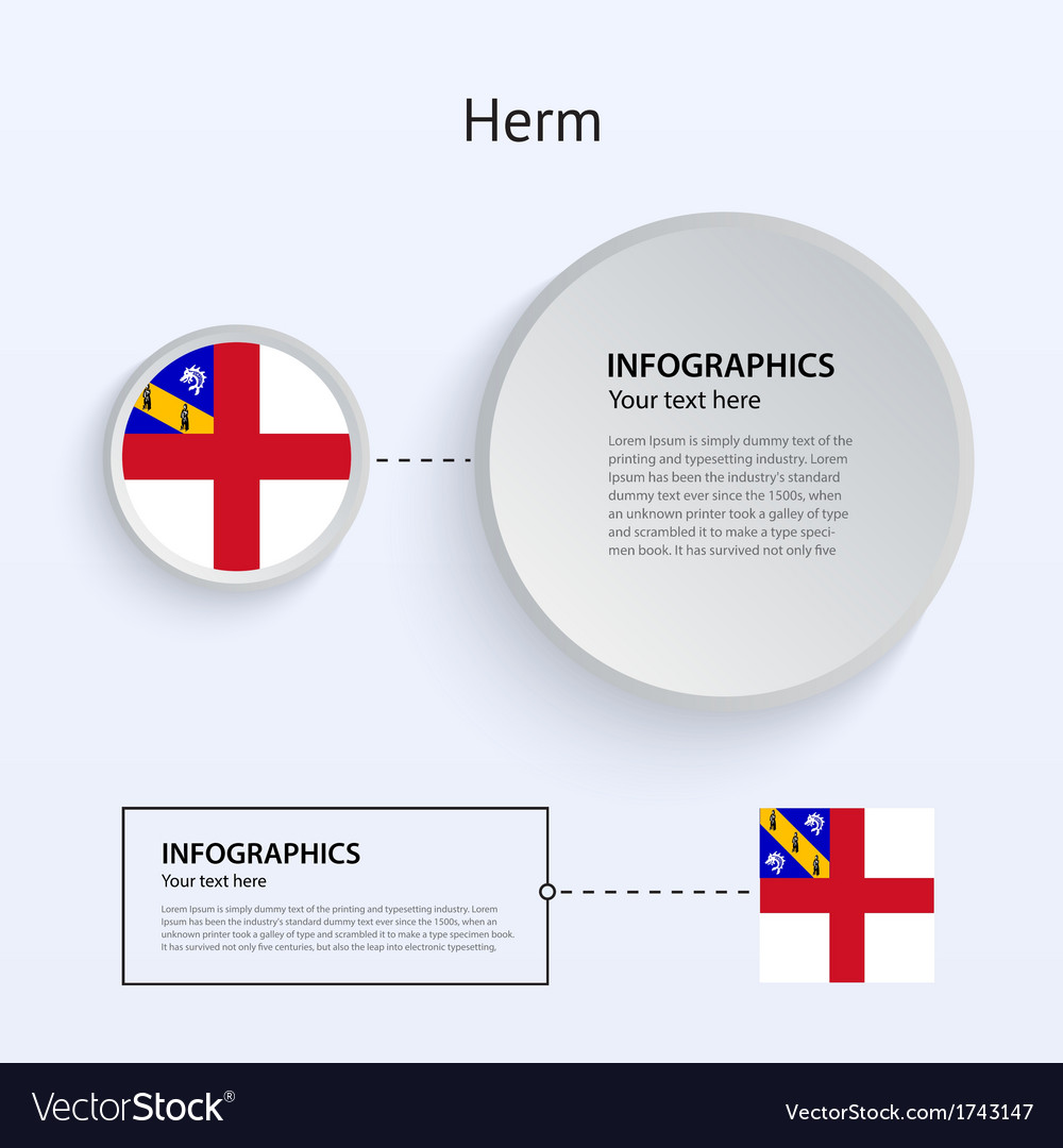 Herm country set of banners vector | Price: 1 Credit (USD $1)