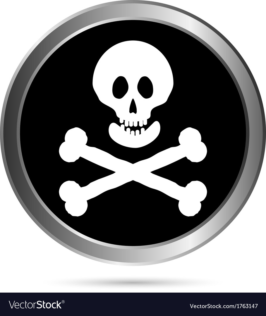 Jolly roger flag button vector | Price: 1 Credit (USD $1)