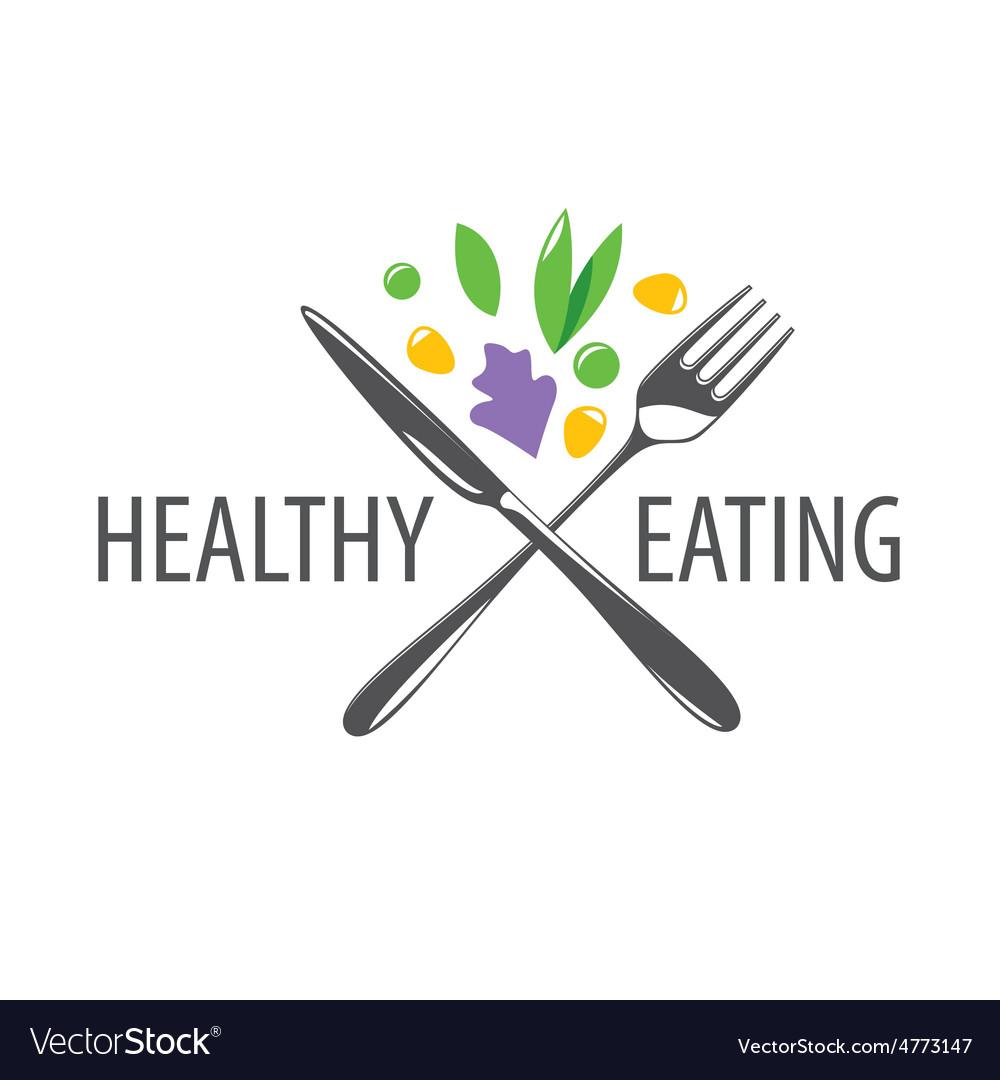 Logo fork knife and vegetables vector | Price: 1 Credit (USD $1)