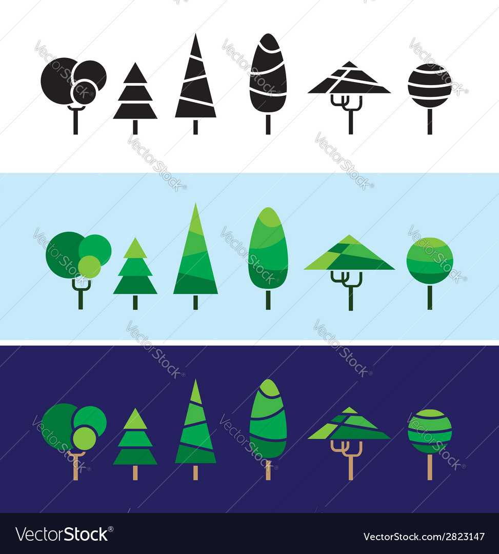 Mini trees vector | Price: 1 Credit (USD $1)