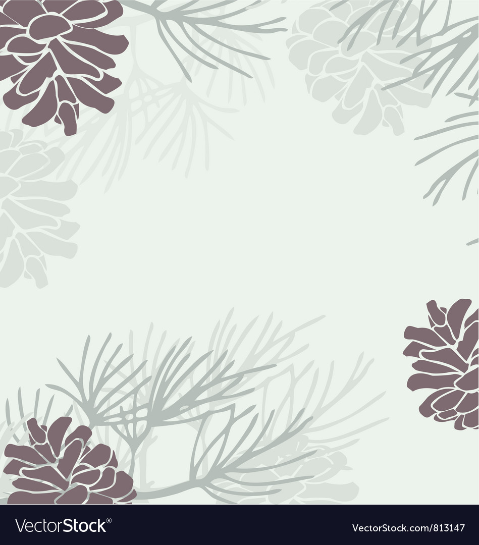 Pinecone background vector | Price: 1 Credit (USD $1)