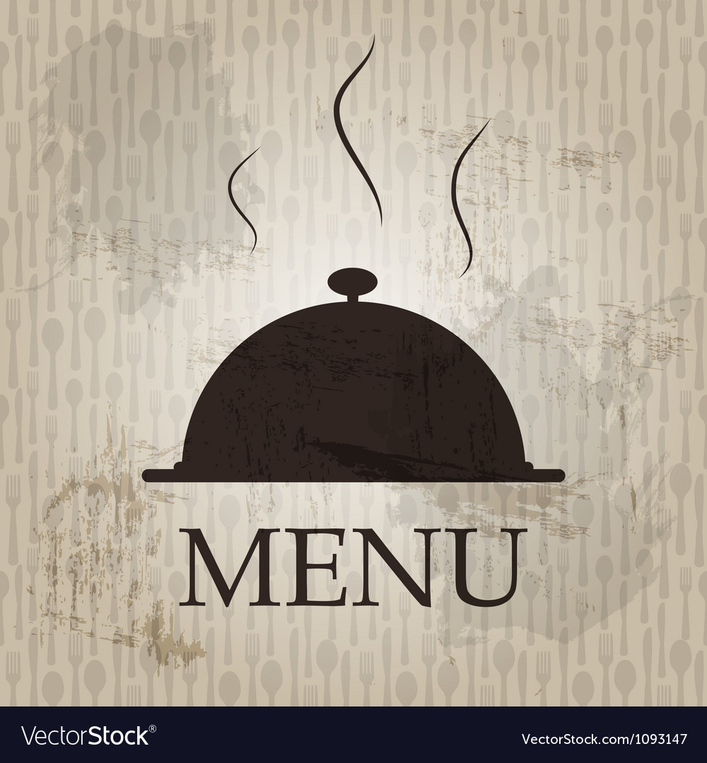 Restaurant menu template in grunge retro style vector | Price: 1 Credit (USD $1)