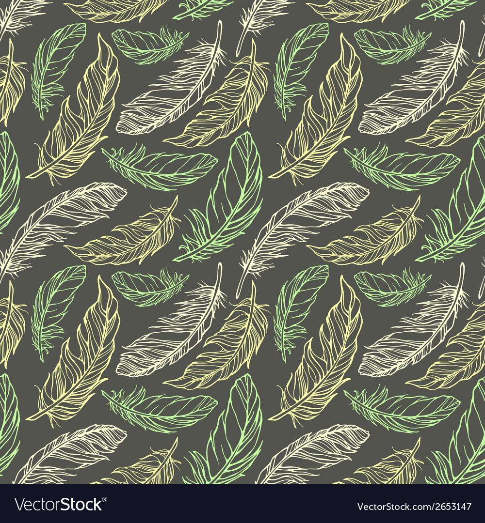 Seamless pattern with hand drawn decorative vector | Price: 1 Credit (USD $1)