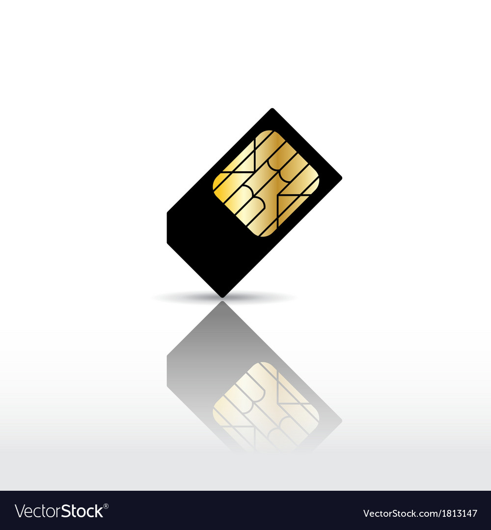 Sim card vector | Price: 1 Credit (USD $1)