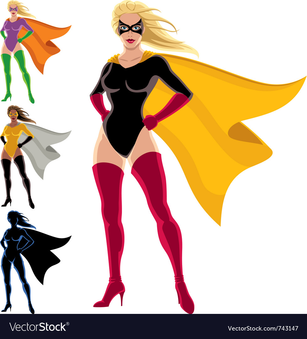 Superhero - female vector | Price: 3 Credit (USD $3)