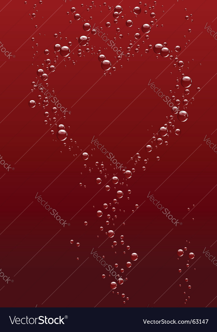 Valentines day bubbles vector | Price: 1 Credit (USD $1)
