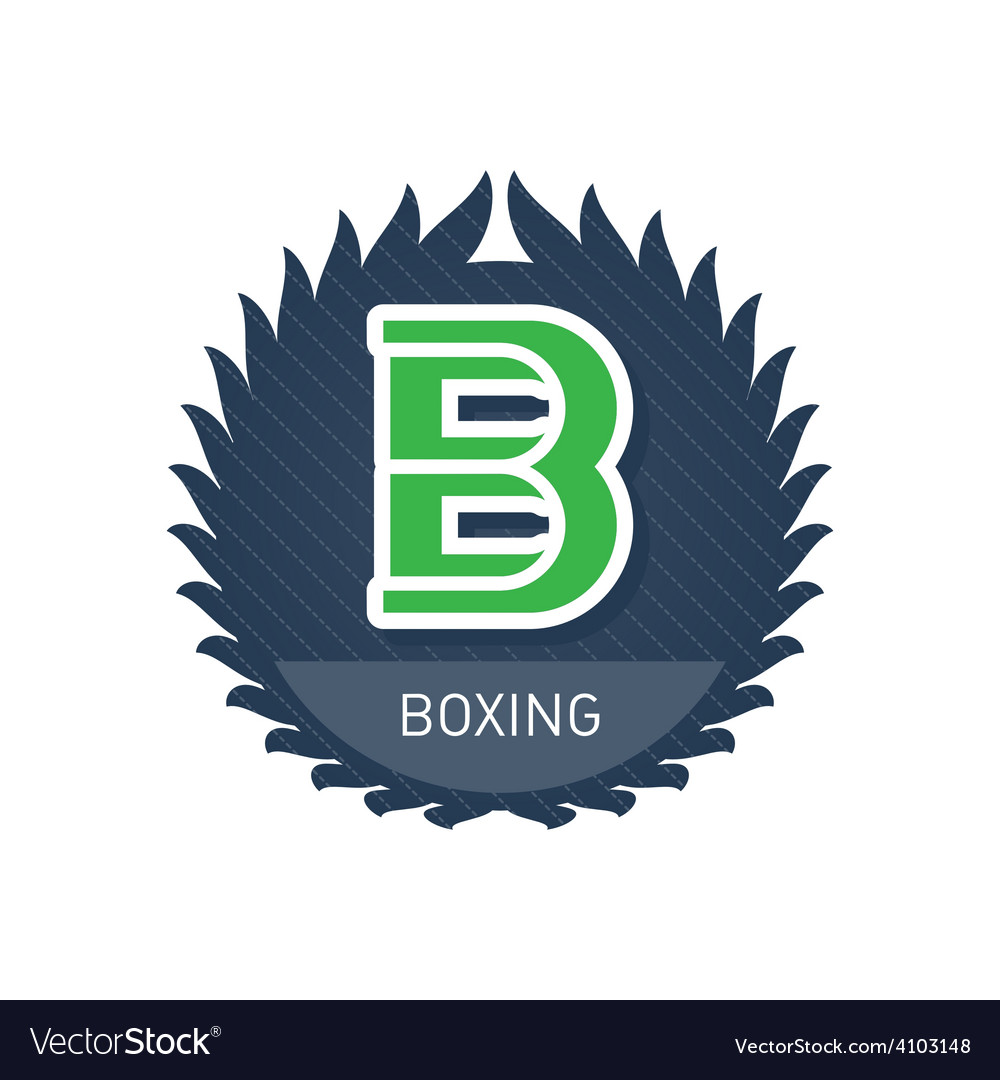 Boxing - sports and recreation label or heraldic vector | Price: 1 Credit (USD $1)