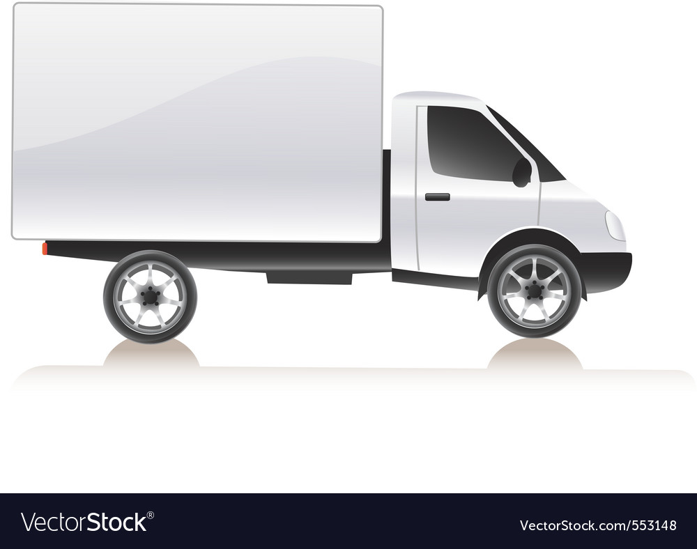 Cargo truck vector | Price: 3 Credit (USD $3)