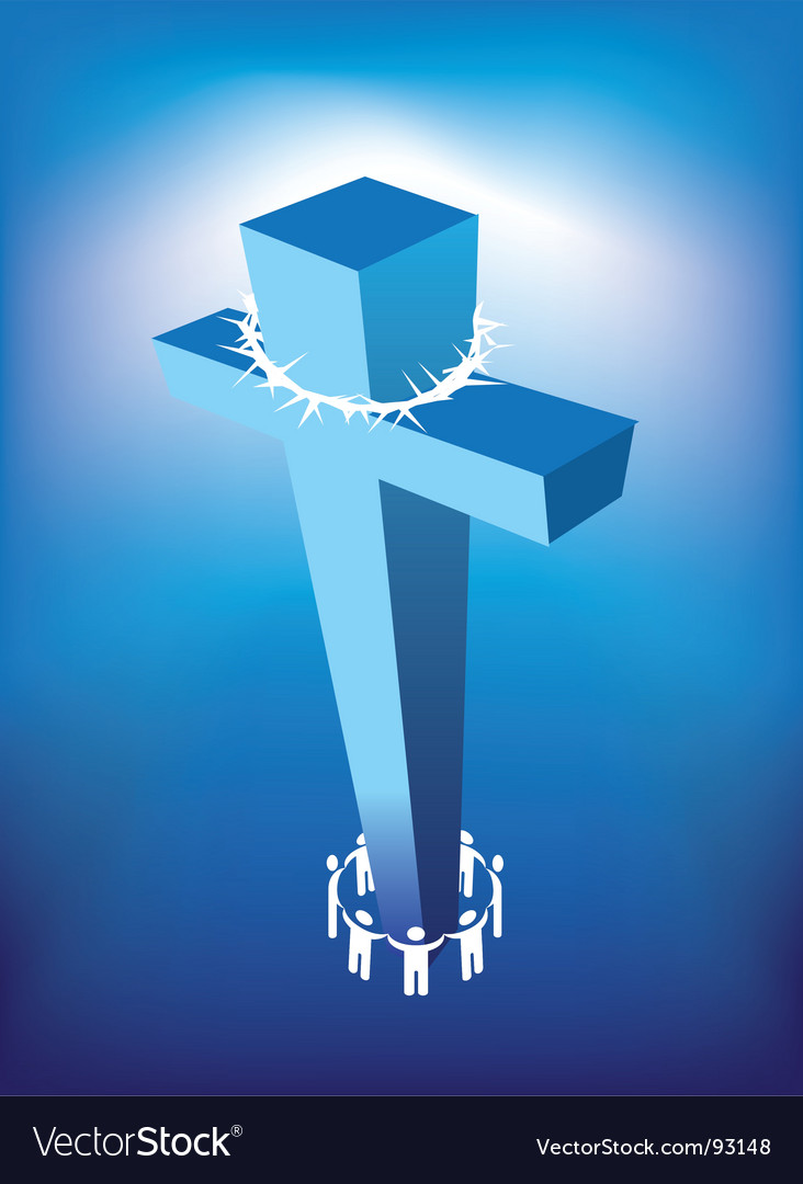 Cross and thorns vector | Price: 1 Credit (USD $1)