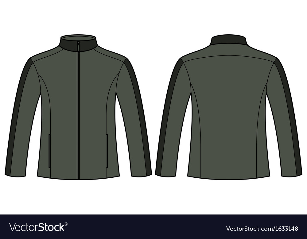 Jacket template vector | Price: 1 Credit (USD $1)