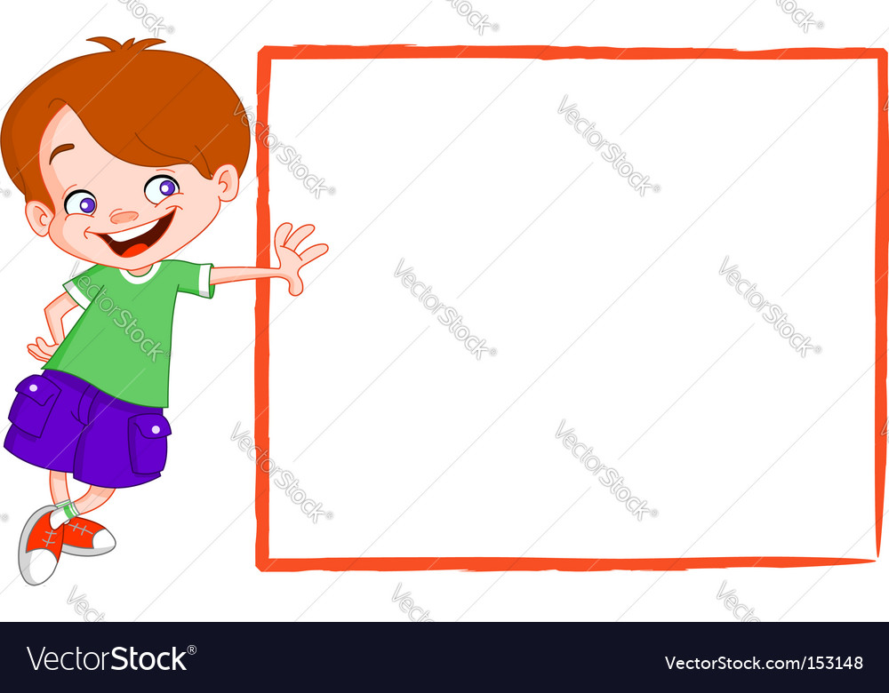 Kid with sign vector | Price: 3 Credit (USD $3)
