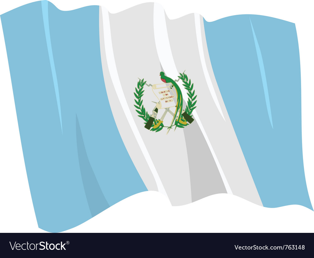 Political waving flag of guatemala vector | Price: 1 Credit (USD $1)