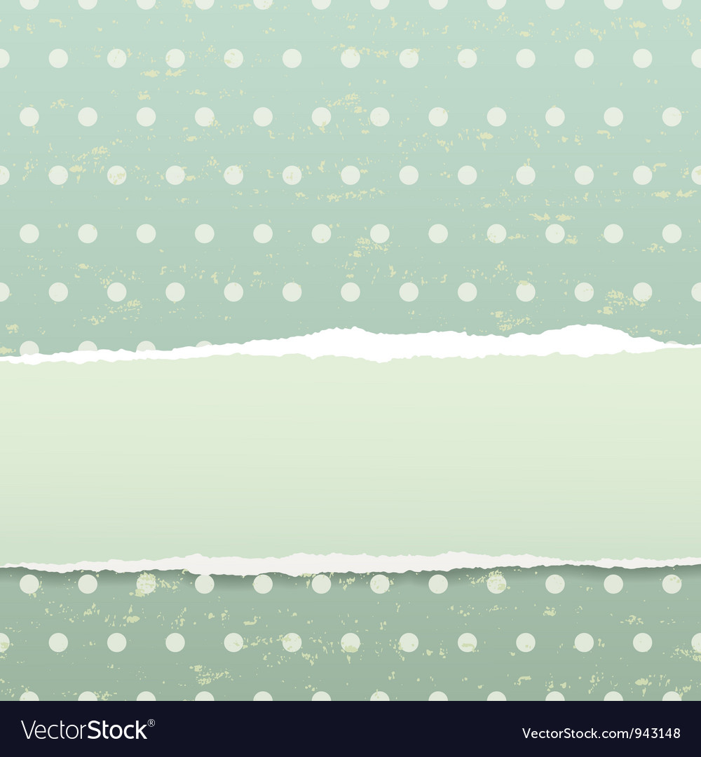 Retro background with torn paper vector | Price: 1 Credit (USD $1)