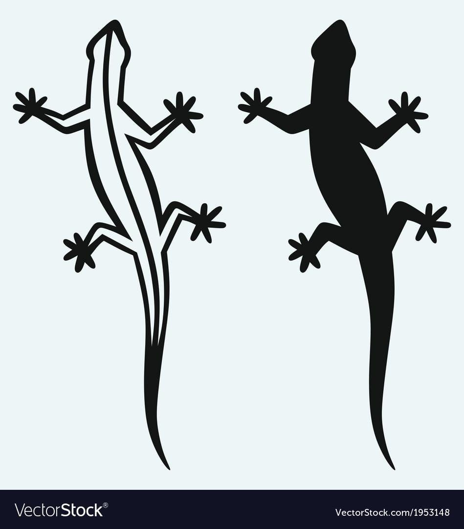 Silhouette lizard vector | Price: 1 Credit (USD $1)